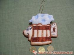 Мастер-класс сувенира из ткани «Рыбка к пиву»