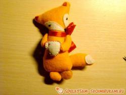 Фетровая лисичка