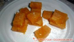 Homemade jelly candies made from apricots