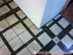 Монтаж керамической плитки на ровную поверхность