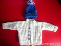 Жакет и шапочка для малыша