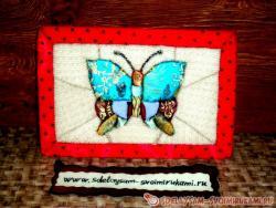 Пэчворк без иголки - «кинусайга»: Бабочка