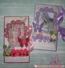 Конверты-открытки для дня рождения