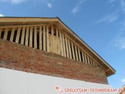 Изготовление двухскатной крыши
