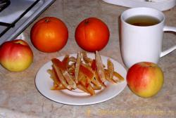 Апельсиновые цукаты без масла