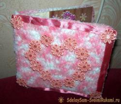 Открытку из ткани в подарок