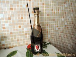 Как оформить бутылку шампанского к 23 февраля