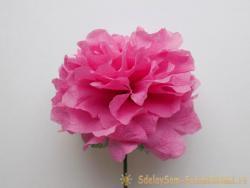 Как сделать пышный цветок из бумажных салфеток