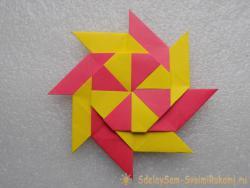 Звезда-трансформер из бумаги