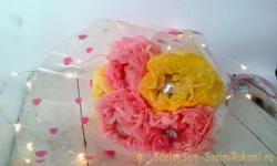 A bouquet of sweets from paper napkins