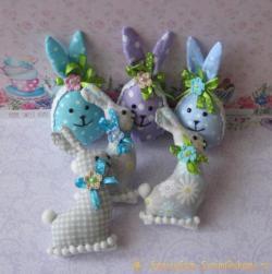 Яйца-зайчики из ткани к весеннему празднику