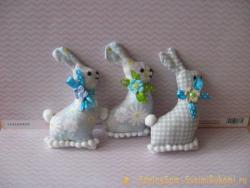 Пасхальные кролики из ткани