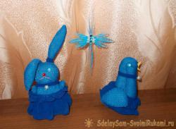 Пасхальная птичка и пасхальный кролик