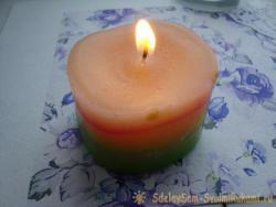 Свеча из восковых мелков