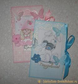 envelopes by hand on the birth of children