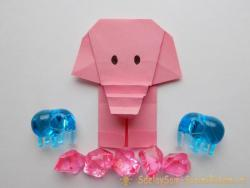 How to make an elephant in origami technique