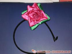 Цветок в стиле канзаши для начинающих