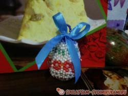 Easter egg braided with beads