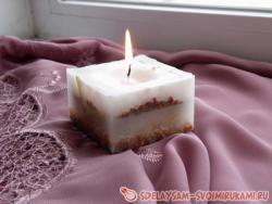 Свечи из парафина и природных материалов