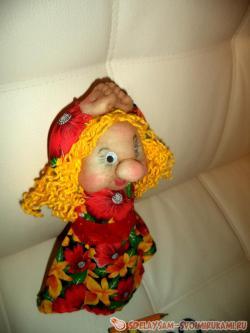 Кукла из капрона «Девушка-весна»