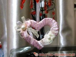 Нежная валентинка в форме сердечка