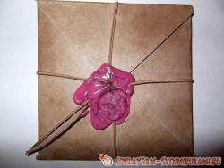 Винтажный конверт с сургучной печатью