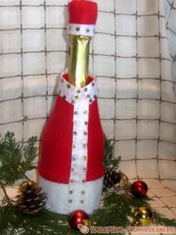 Дед Мороз на бутылку шампанского