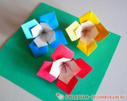 Как сложить цветок из квадратного листа бумаги