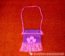 Knitted children's handbag