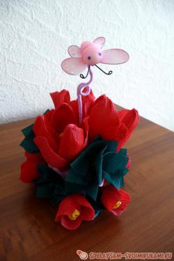 Sweet bouquet of tulips