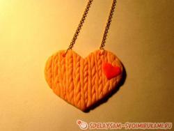 Кулон «Вязаное сердце»