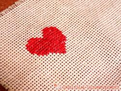 The embroidered heart is a passionate proof of your love!