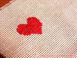 Вышитое сердце – страстное доказательство вашей любви!