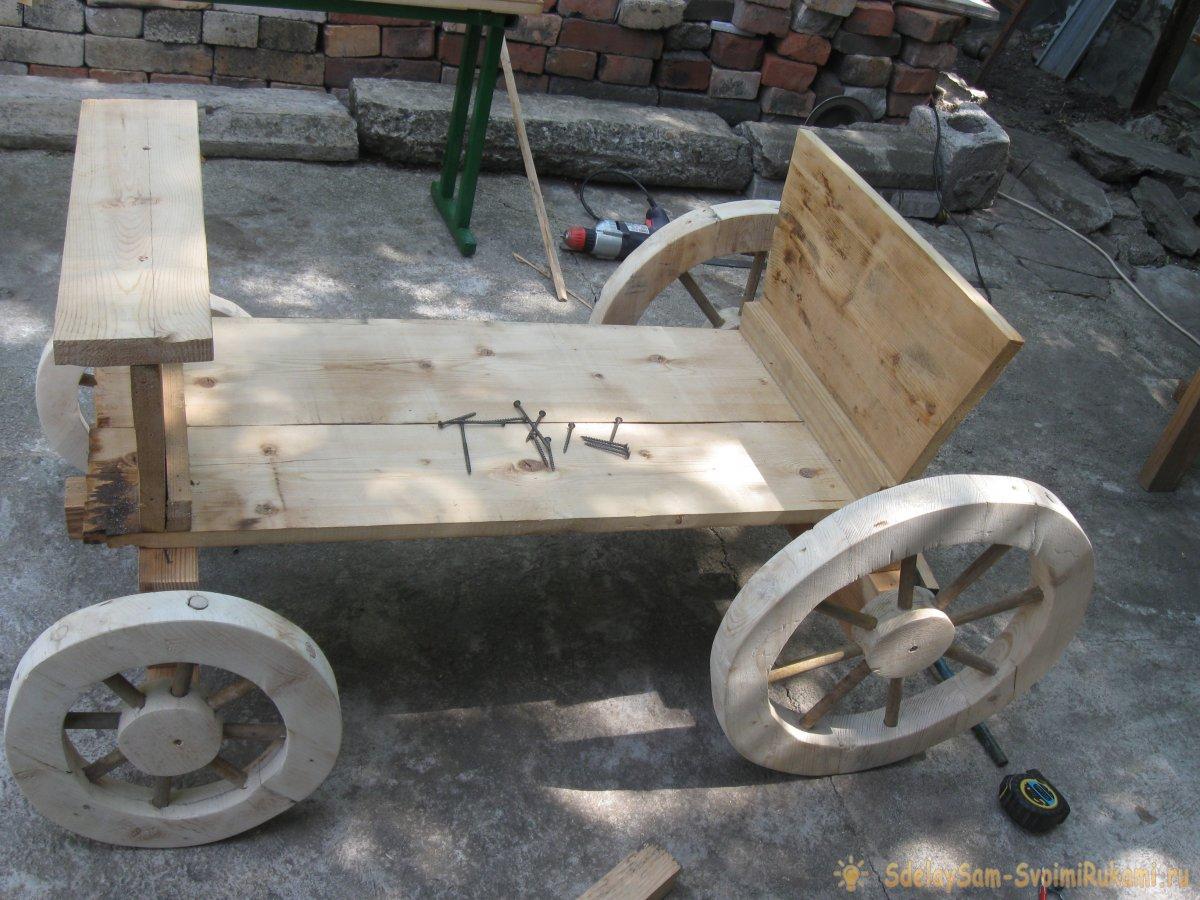 Колеса от деревянной телеги своими руками