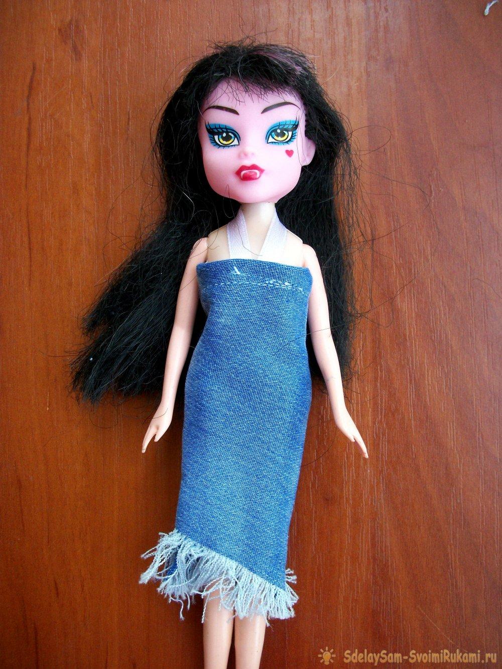 325Как кукле сшить платье быстро и без выкройки