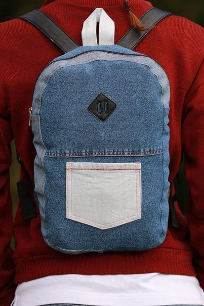 96838dc043dc Яркий рюкзак из старых джинсов | Мастер-класс своими руками