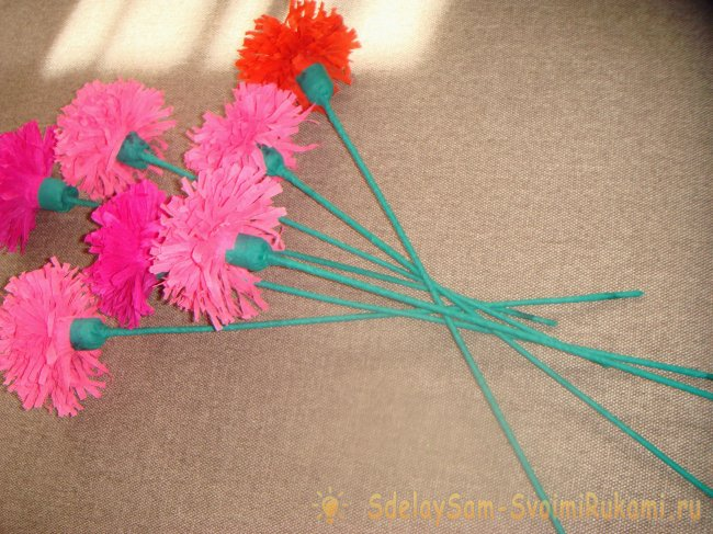 Crepe paper asters