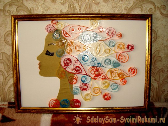 The picture in the technique of quilling