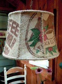 Coffee Lamp ... Jute Lampshade