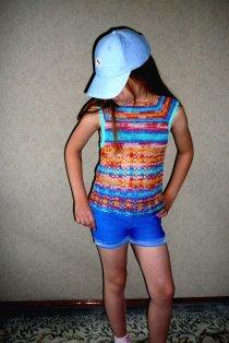 Top for girl crochet