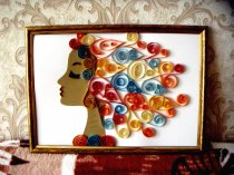 Quilling painting