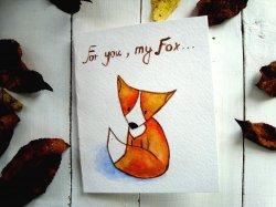 Нарисованная милая открытка своими руками