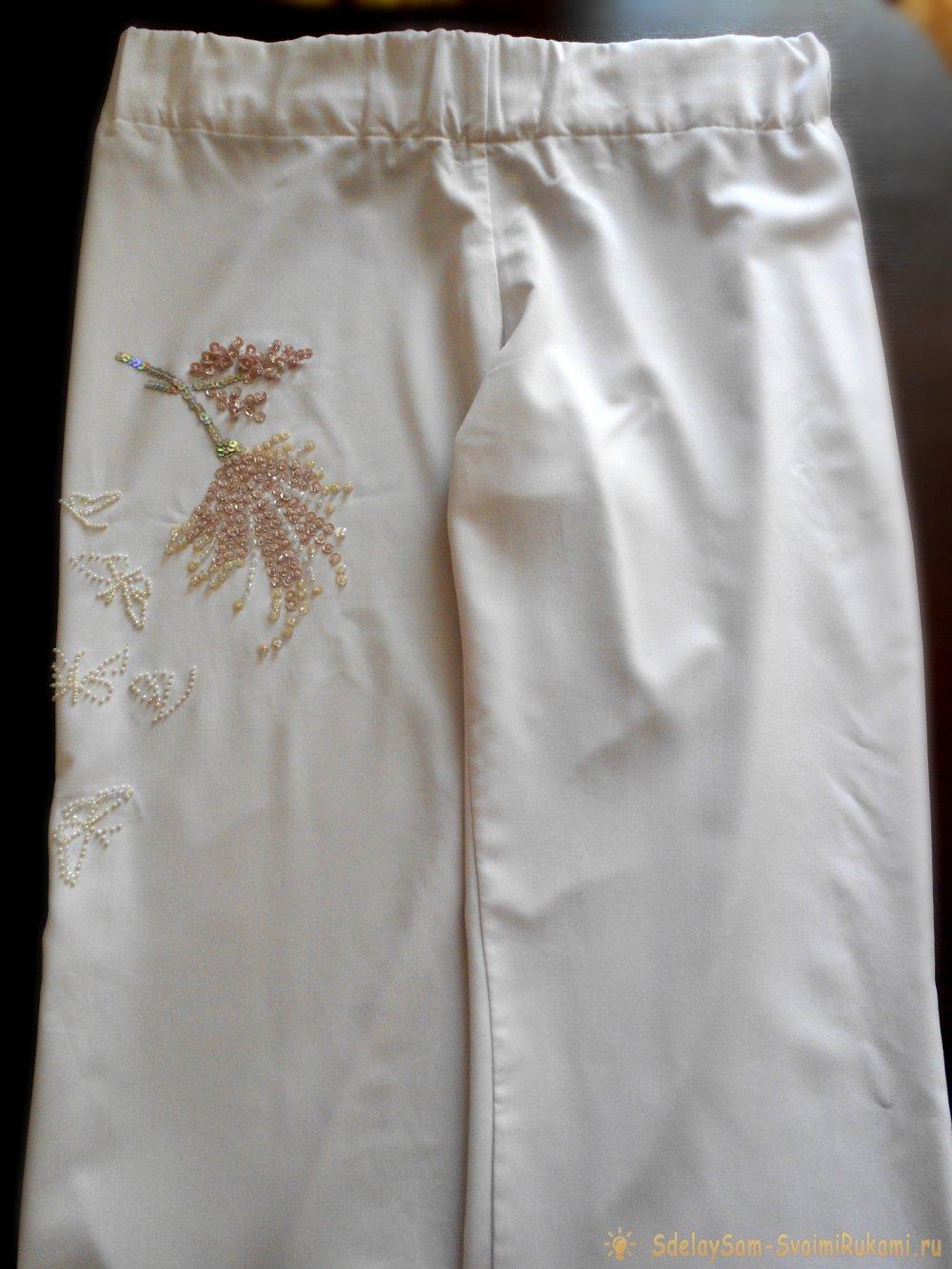Схемы вышивки брюк