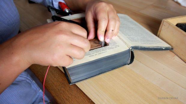 Secret cache in the book