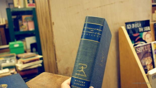 The secret cache in the book