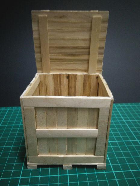 Miniature box of ice cream sticks