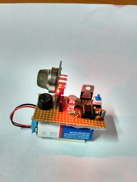 Do-it-yourself gas leakage sensor