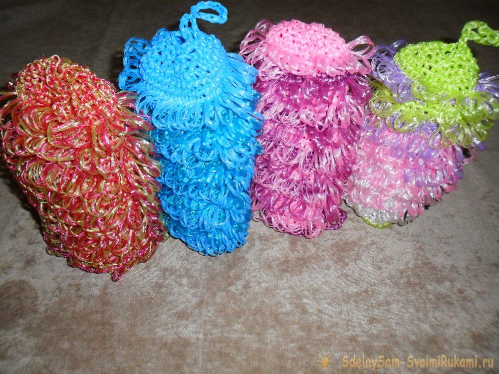 Мастер-класс по вязанию мочалки из полипропиленовых нитей | Мастер-класс  своими руками