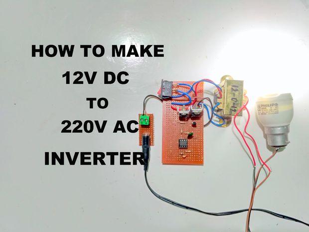 Simple inverter 12V - 220V 50Hz