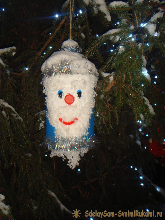 Christmas toys to decorate a street fir or pine